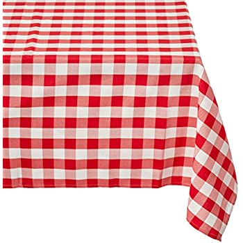 Superbe LinenTablecloth 60 X 102 Inch Rectangular Tablecloth Red U0026 White Checker