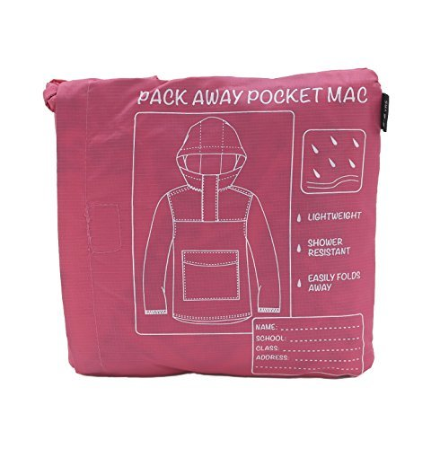 Price comparison product image Childrens Shower Resistant Pac A Mac / Rain Coat / Kagool ~ 4-12 Years (7-8 Years, Pink)