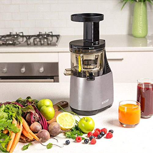 BioChef-Synergy-Slow-Juicer-150W-Masticating-Fruit-Vegetable-Slow-Juicer-Quiet-Motor-with-10-Year-Warranty-White