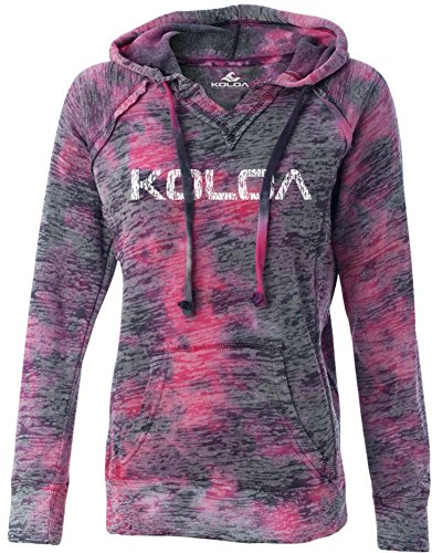 Koloa Surf Logo Womens Raspberry Swirl Burnout Hoodies in Sizes S-2XL ()