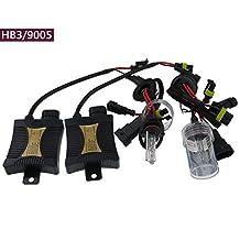 55W HID 9005/HB3/H10 Xenon Headlight Conversion KIT Bulbs 3000k 4300K 5000k 6000k 8000k 10000K 12000K