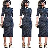 Ninasill Women Dress, ღ ღ High Waist Patchwork