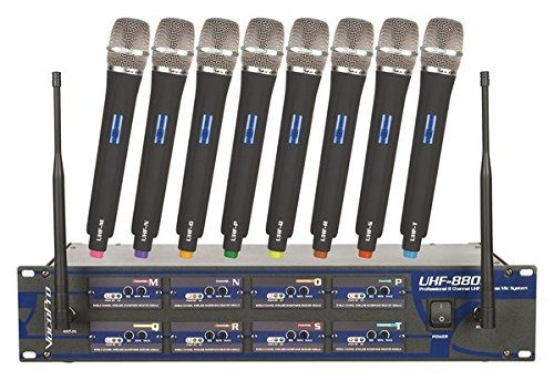 VocoPro UHF-8800 Wireless Microphone System 8800 Video