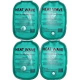 HEAT WAVE Instant Reusable Heat Pack HAND WARMERS - 4 pack = 2 pairs Heat Wave - Premium Quality - Medical Grade - Made in USA, not China