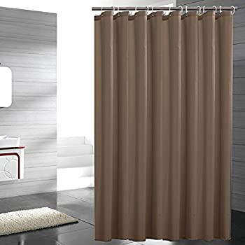 Eforgift Water Repellent Fabric Shower Curtain Polyester Standalone Easy Clean Mildew Resistant Extra Long