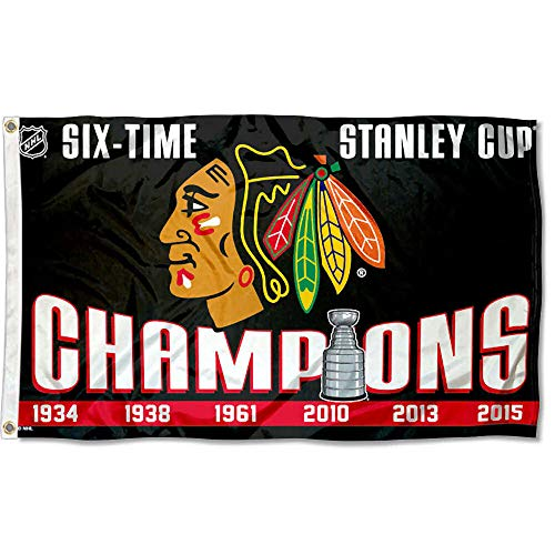 Wincraft Chicago Blackhawks 6 Time Stanley Cup Champions ()