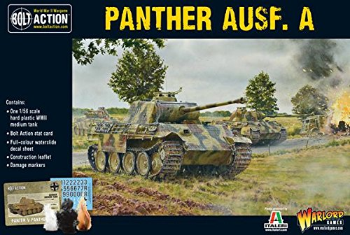 Bolt Action Panther AUSF A Medium Tank 1:56 WWII Military Wargaming Plastic Model Kit