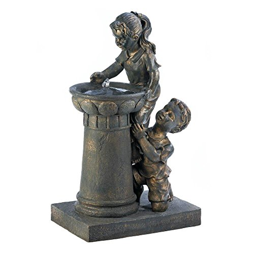 Fountain, Decorative Modern Garden Backyard Playtime Park Floor Water Fountains by Cascading Fountains