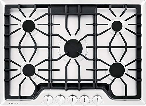 Propane Electric Liquid Cooktop - Frigidaire Gallery 30 Inch Gas, White 5-Burner Range with Liquid Propane Conversion Kit, FGGC3047QW Cooktop