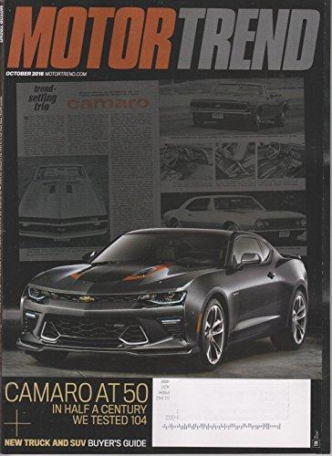 Motor Trend Camaro - Motor Trend October 2016 Camaro At 50 - In Half A Century We Tested 104