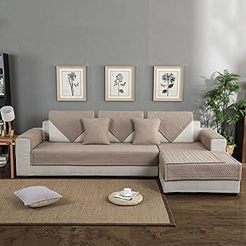 High Quality FORCHEER Sofa Mats Cotton Non Slip Sofa Cover Sofa Shield Quilted Sectional  Sofa Cushion Slip