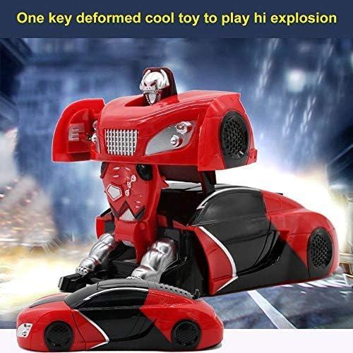 Niños Juguete mando a distancia Auto Stunt coches Transformers Robot RC Auto suelo pared Modo Dual modos 360 ° giratorio Niños Juegos Vehículos de Juguete para Niños Niño Niña Teen adultos (Rojo):