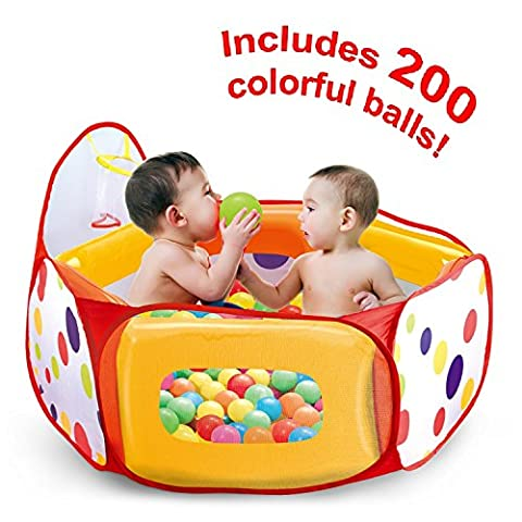 Kids Ball Pit Tent with 200 Crush Free Pit Balls Super Safe for Kids (Pit For Kids)