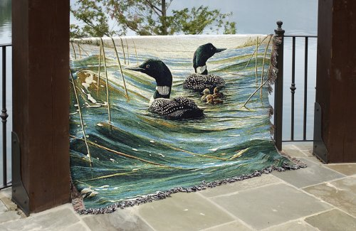 Loon Duck Pride Of The Lakes Tapestry Throw Blanket 40 X 40 Best Loon Throw Blanket