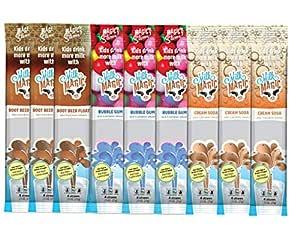 Magic Milk Straws Flavored Straws Magic Straws 36 Straws Root Beer Float Bubble Gum Cream Soda