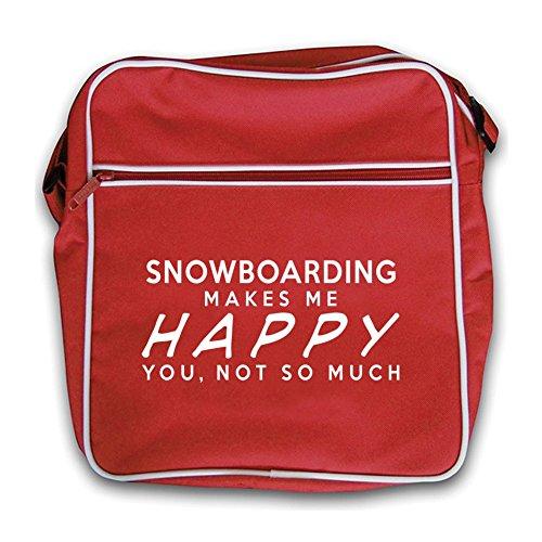 Snowboard Feliz Me Retro Viaje Rojo Hace Bolsa De Rojo S1TSq