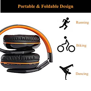Wireless Gaming Headset, Kotion Each V4.1 Bluetooth Hi-fi Stereo Over-ear Foldable Headphone / Earbuds / Earphone with Microphone for Phones Laptop PC Computer PS4