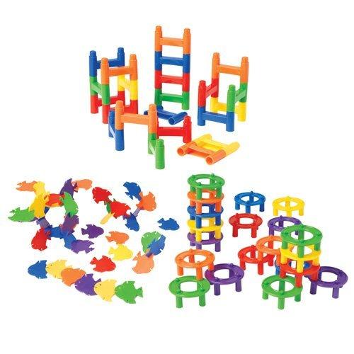 Constructive Playthings CPX-160 Interlocking Manipulative 396 pc. Set for Children