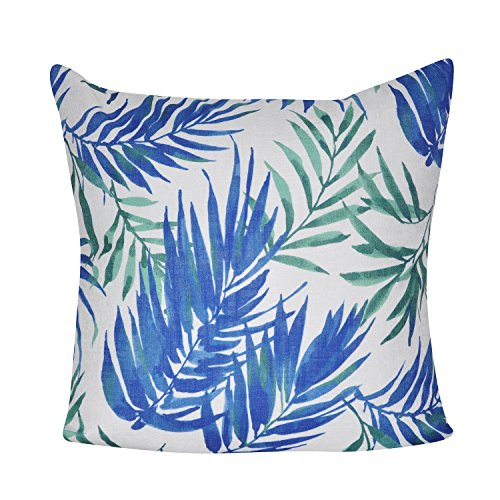 Loom and Mill Bohemian Tropical Leaf Design Decorative Plush and Fluffy Accent Decor Throw Pillow, 22