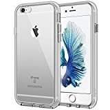 JETech Case for Apple iPhone 6 Plus and iPhone 6s Plus 5.5-Inch, Shock-Absorption Bumper Cover, Anti-Scratch Clear Back (Gray)