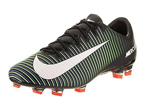 Nike Mercurial Veloce III FG Black/White/ElectricGreen Shoes - 7.5A wkZ40pjn
