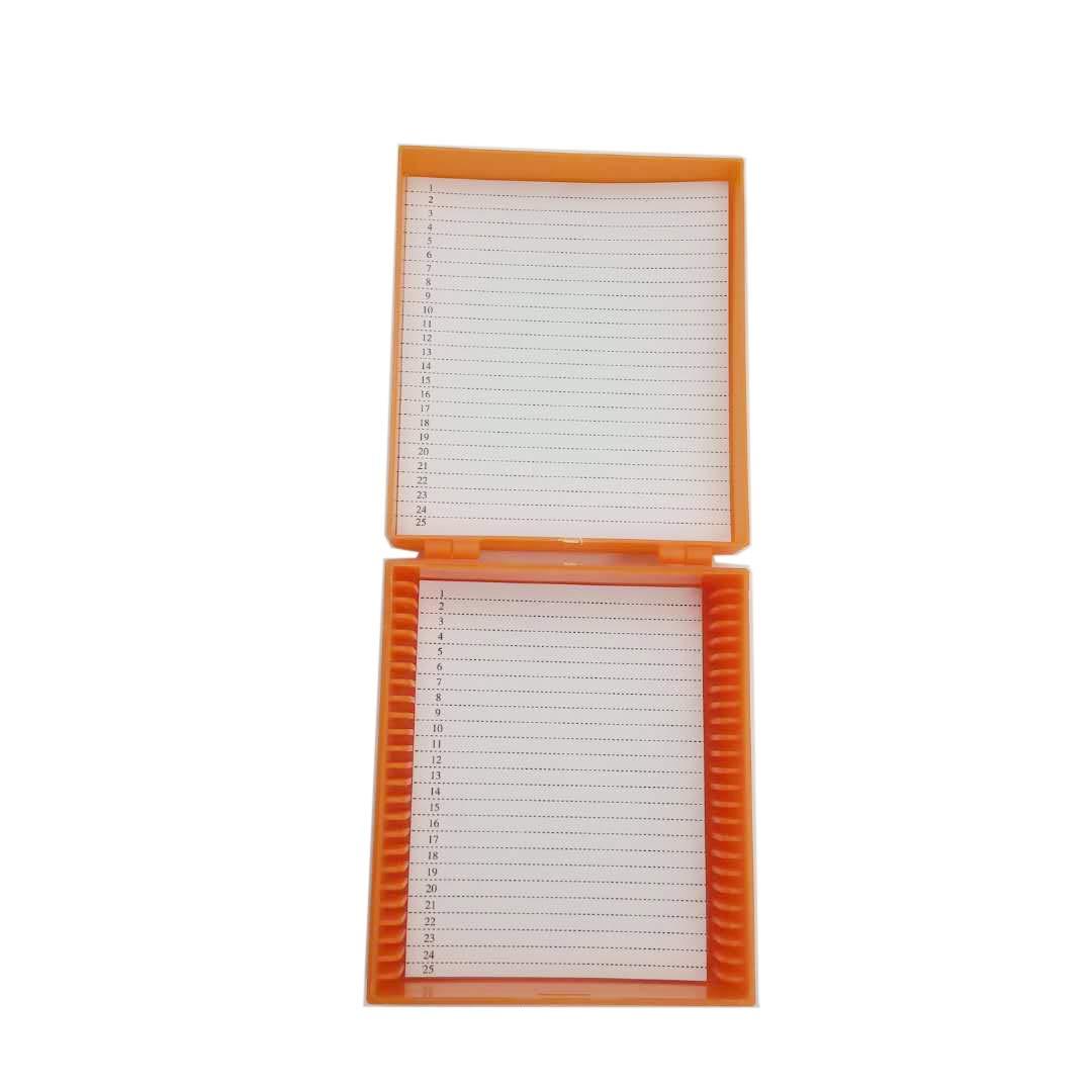 azul Caja de microscopio verde color azul 25 unidades Microslide Slide naranja y blanco 1