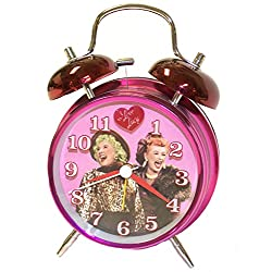 I Love Lucy Twin Bell Analog Alarm Clock