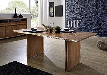 Main Möbel Esstisch 200x100cm Dakar Akazie Massiv Lackiert Amazon