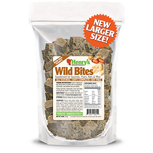 Henry's Healthy Pets Wild Bites Food for Squirrels, Flyers, Rats & Mice, 18 ()