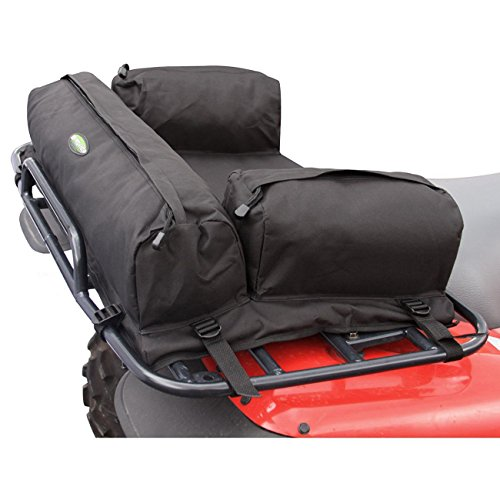 ATV Rear Deluxe Padded Racks Bag Pack MOSSY Black Secure Storage Cargo Back