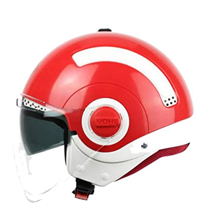 Amazon.es: Casco de Moto para Adulto, Medio Cara, Color Doble ...