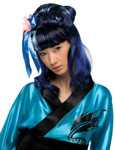 [Rubie's Costume Dragon Lady Wig, Blue, One Size] (Halloween Costumes For Asian Women)