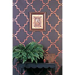 Royal Design Studio Moorish Trellis Wall Stencil for DIY Painting - Designer Wallpaper Look