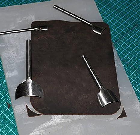 Co-link DIY Leather Craft Belt Strap Wallet Bag End Arc-shaped Punch with 5 Sizes