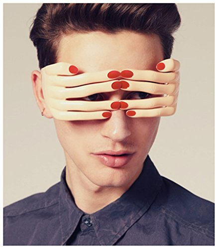 Novelty fingers shaped glasses fancy ball eye mask -