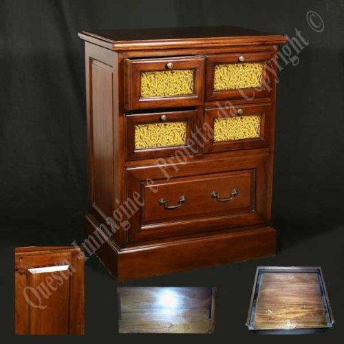 Möbel Buffet, Buffetschrank, Küchenbuffet, cm 70,5x46 h 90,5 - Holz, Klassisch, Italienischer Produktion