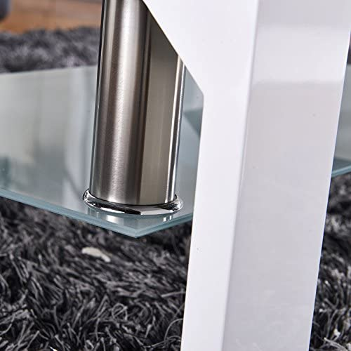 home, kitchen, furniture, living room furniture, tables,  coffee tables 7 discount SUNCOO Coffee Table Glass Top with Shelves Home in USA