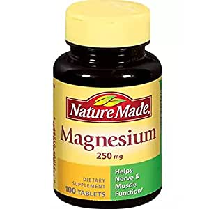 Nature Made Nature Made Magnesium 250mg, 100Count (Pack of 2)