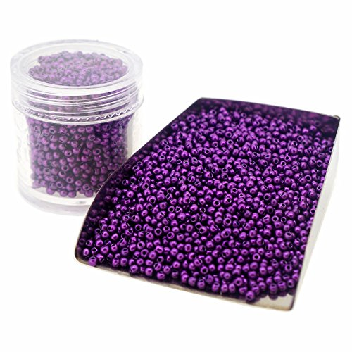 Glass Seed Beads, Baking Varnish, Purple Opaque Colors, Round, Size 11/0 about 2mm, Beading Supplies for Jewelry DIY Making, Priced per -
