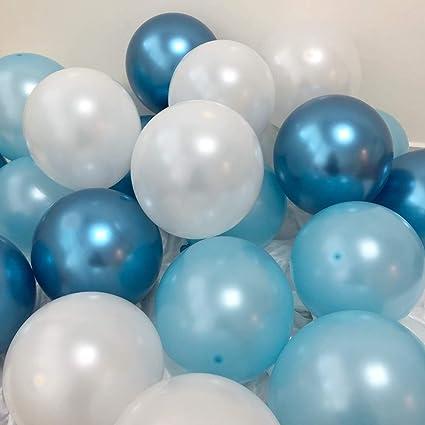 Amazon.com: Globos azules de 11.8 in, globos de látex azul y ...
