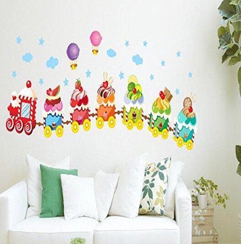 Aiweasi Cartoon Ice Cream Train Stickers Color Children'S Nursery Stickers