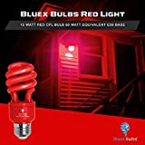 4 Pack BlueX CFL Red Light Bulb 13W - 50-Watt