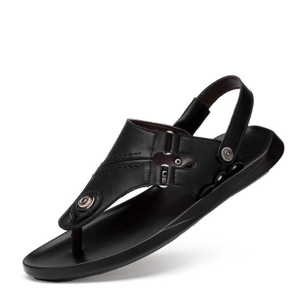 Hombres Sandalias Transpirables Pellizcos Zapatos De Hombres Casual Zapatos De Playa 44 EU|Black
