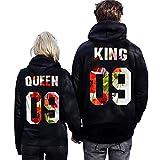 Pxmoda Spring KING QUEEN 09 Lovers Hoodies Couple Sweatshirt Pullover
