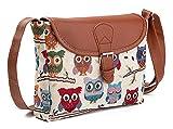 Mfeo Women's Owl Design Cotton Small Cross-body Bag Shoulder Bag Messenger Bag