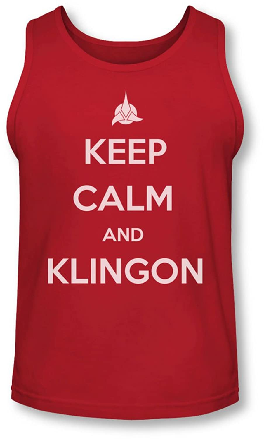 Star Trek - Mens Calm Klingon Tank-Top