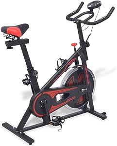 Tidyard Bicicleta de Spinning con sensores de Pulso Negra y roja ...
