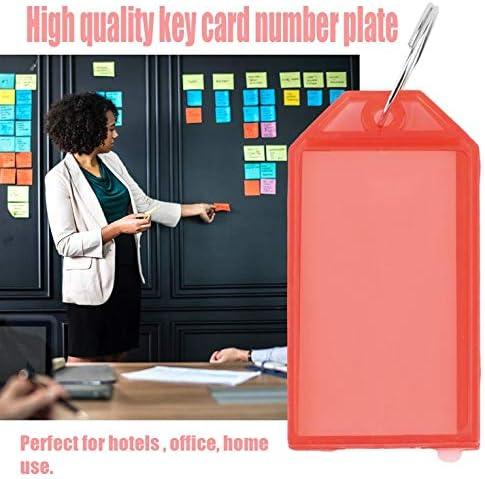 1 Stück Kunststoff Key Tags Schlüsselanhänger ID Identity Tags Rack Name Card Label NEU Vier Farben erhältlich - Rot