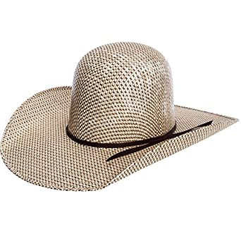 cfeb849a34593 RODEO KING Mens 3 Tone Open Crown 4 1 2 Brim Straw Cowboy Hat at ...