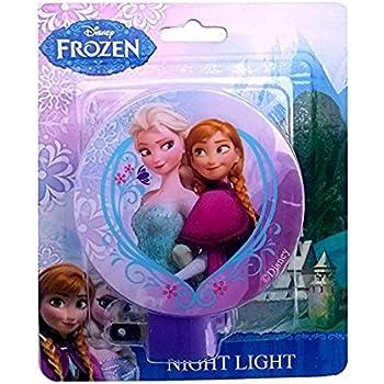 Amazon.com: Azul Frozen de Disney con Elsa enchufe en luz de ...
